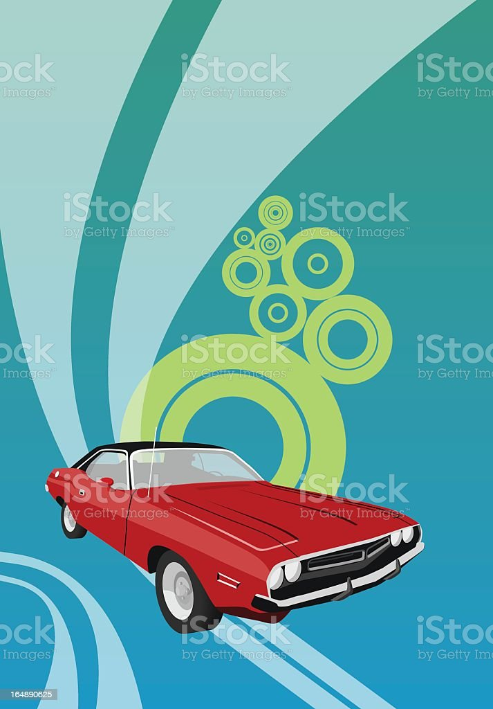 Red Dodge royalty-free stock vector art