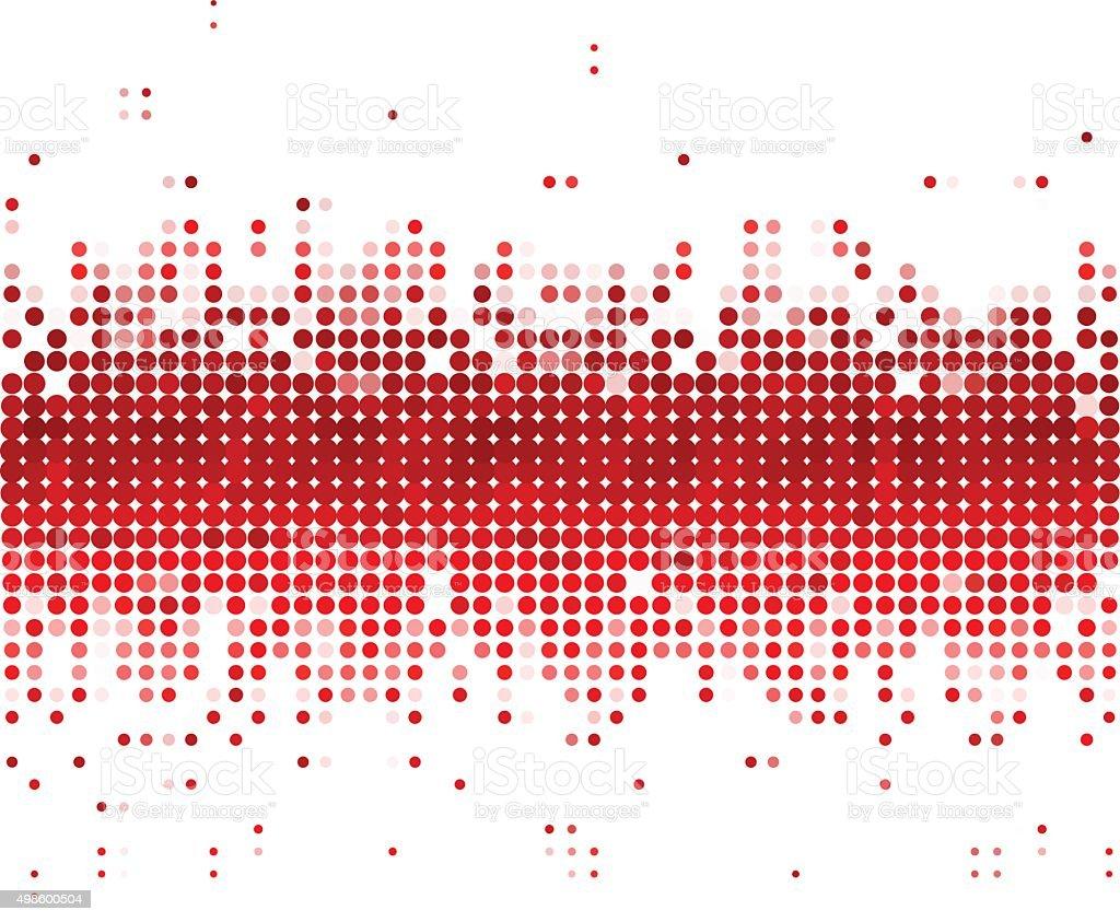 red dot technology background vector art illustration