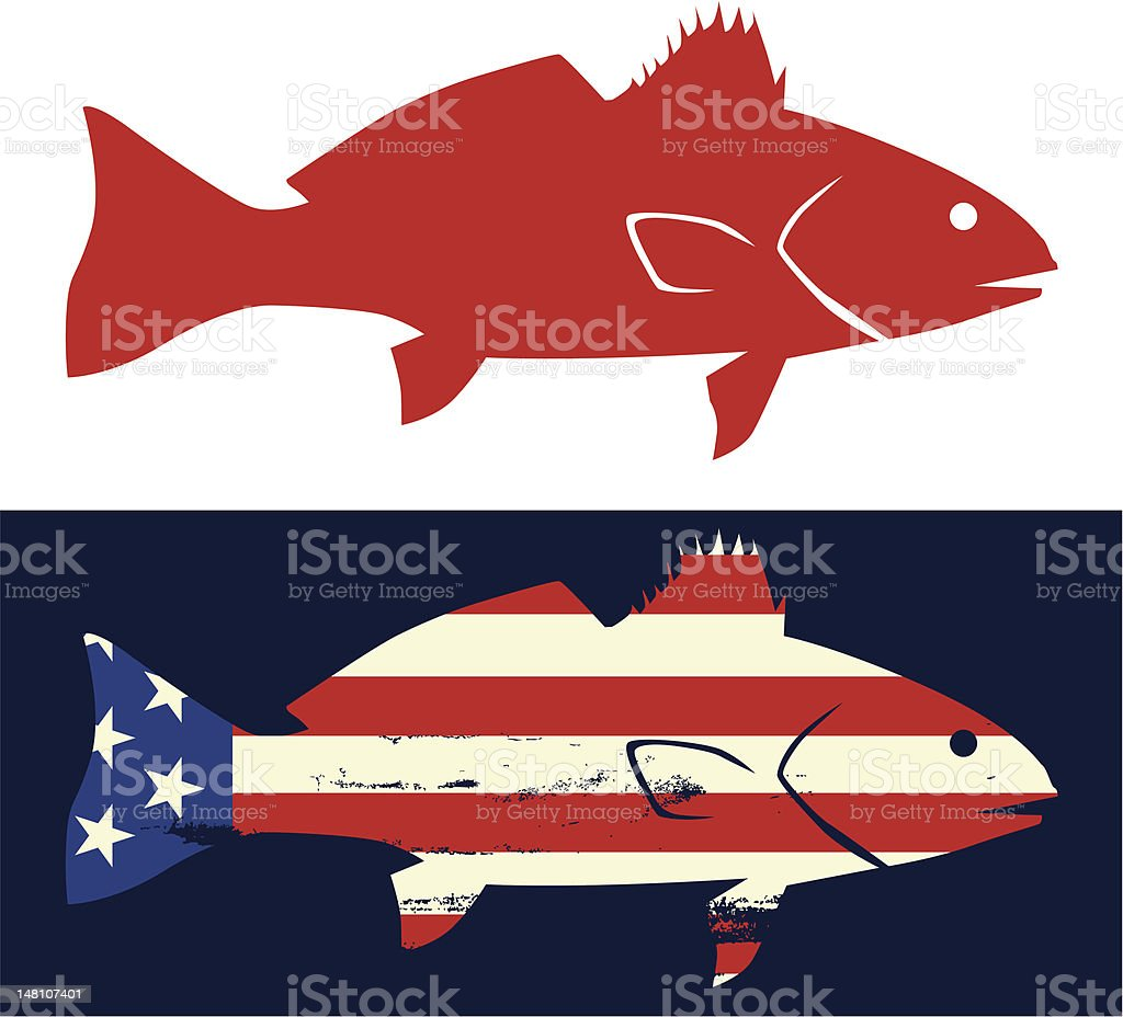 Red Drum Icon vector art illustration