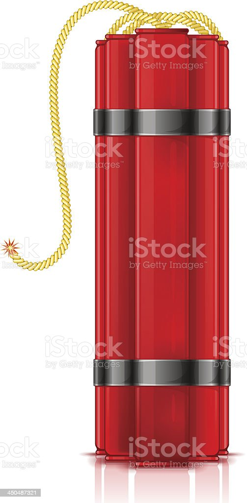 Red dynamite sticks royalty-free stock vector art