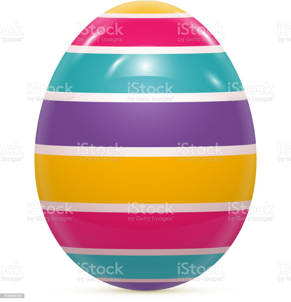 Red Easter Egg Isolated Vector vector art illustration