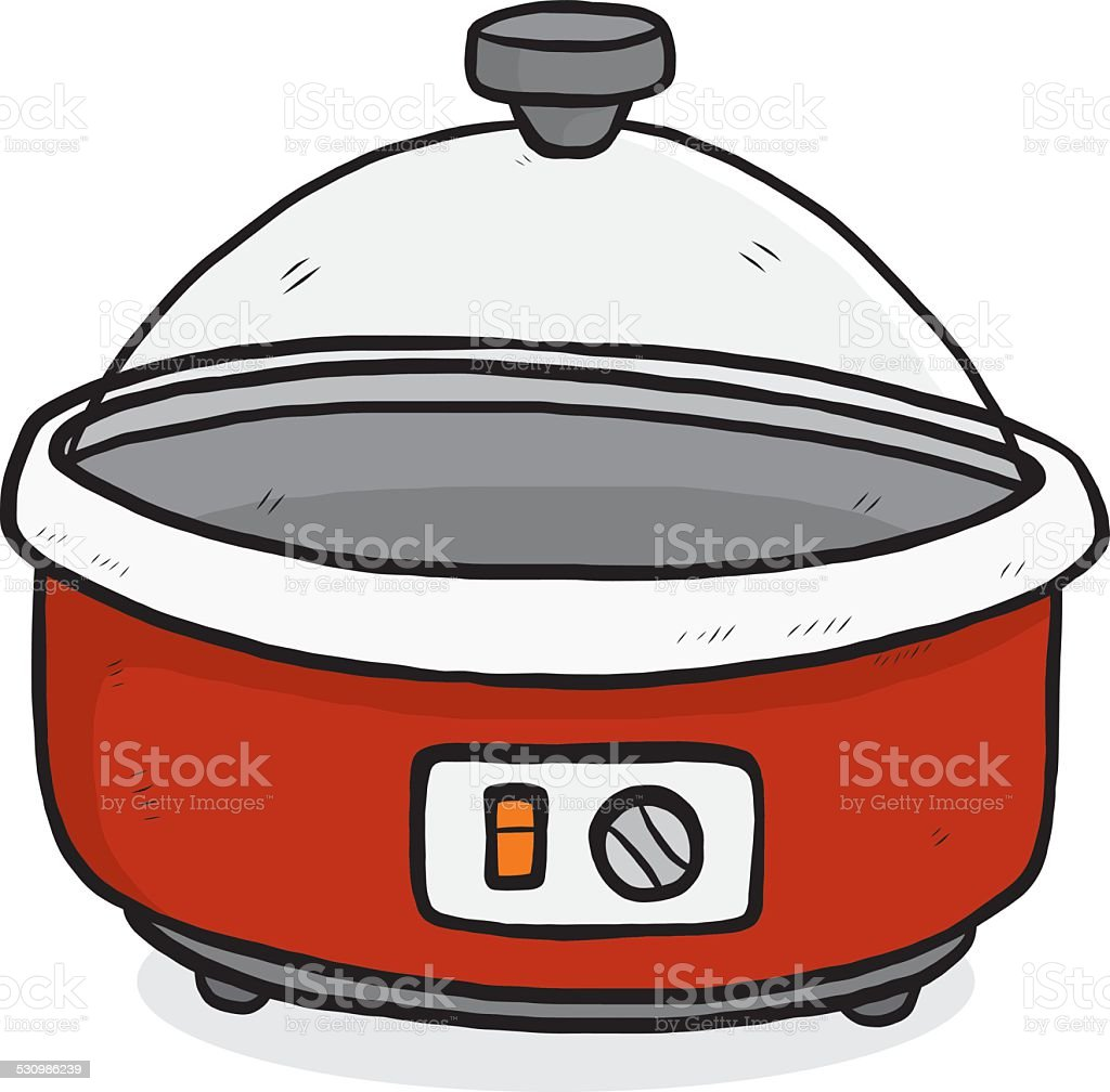 red electrics pan vector art illustration