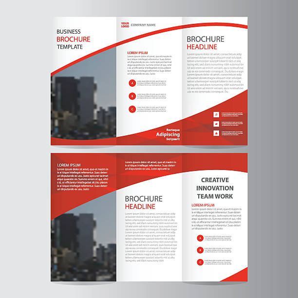 Brochure clip art vector images illustrations istock for Art brochure template