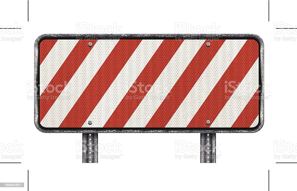 red end of road barrier royalty-free stock vector art
