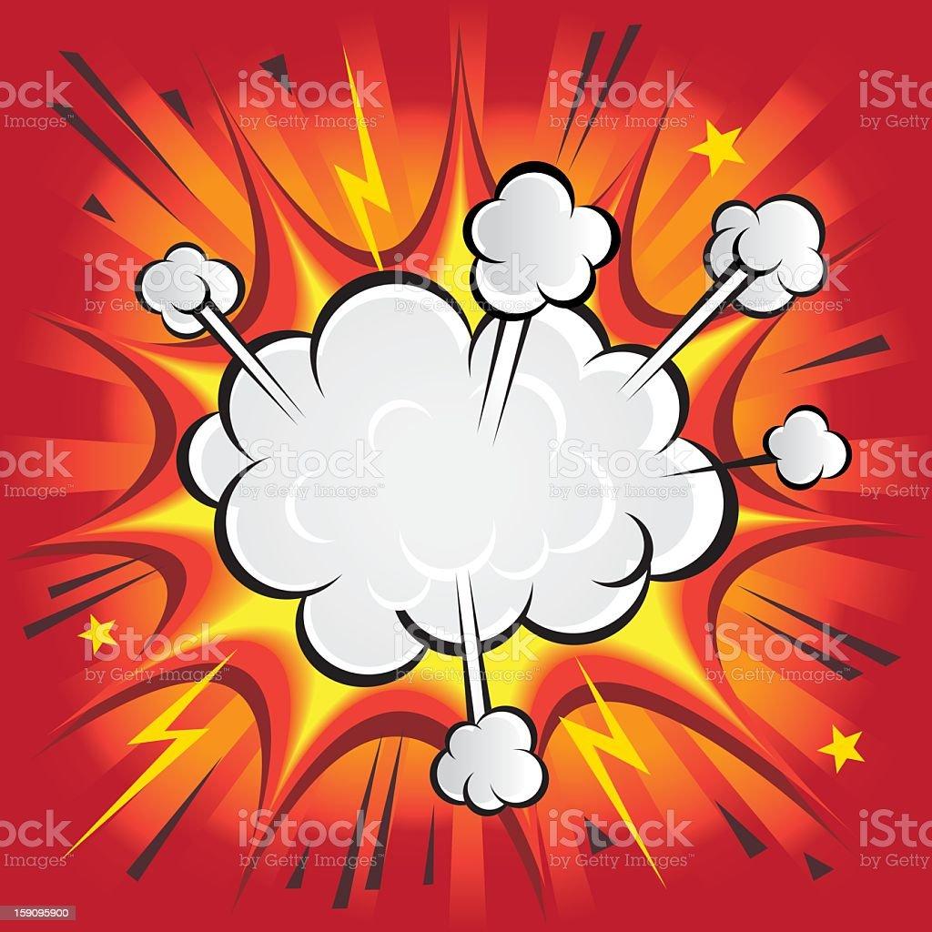 Red Explosion vector art illustration