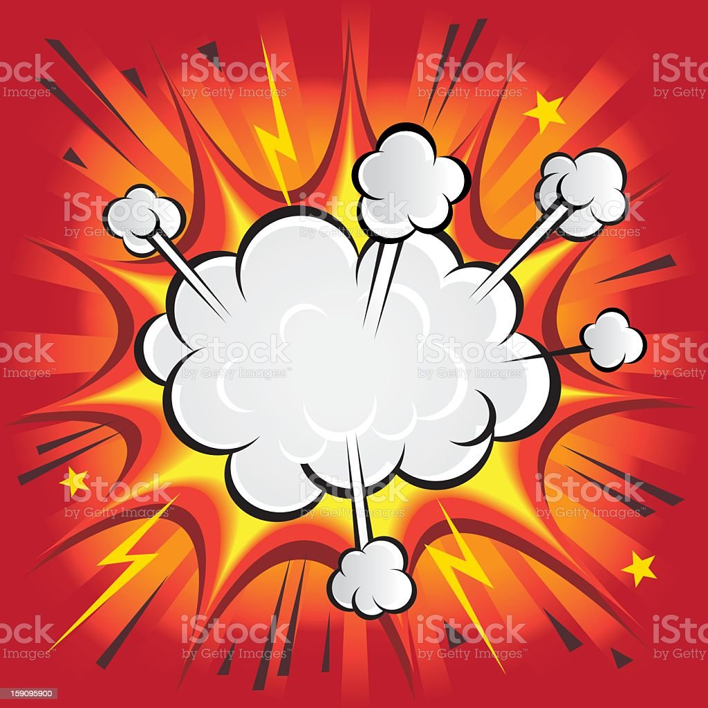 Red Explosion vector art illustration