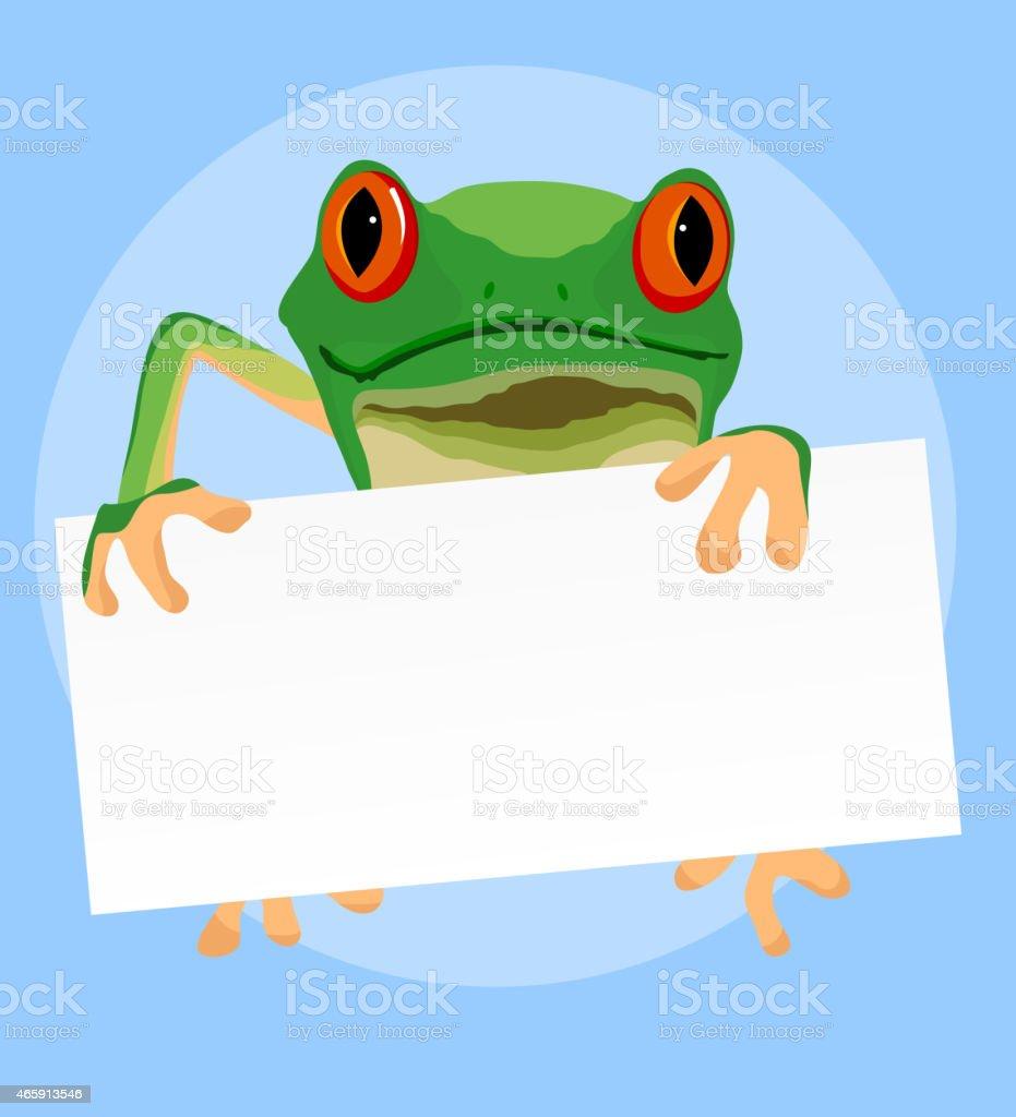 Red eyed tree frogs vector art illustration