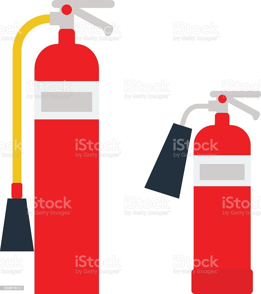 Red fire extinguisher isolated vector vector art illustration