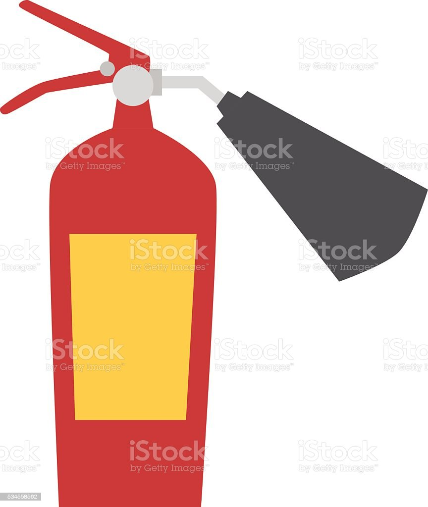 Red fire extinguisher isolated vector. vector art illustration