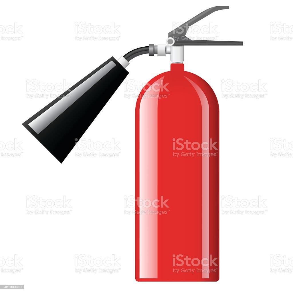 red fire extinguisher vector art illustration