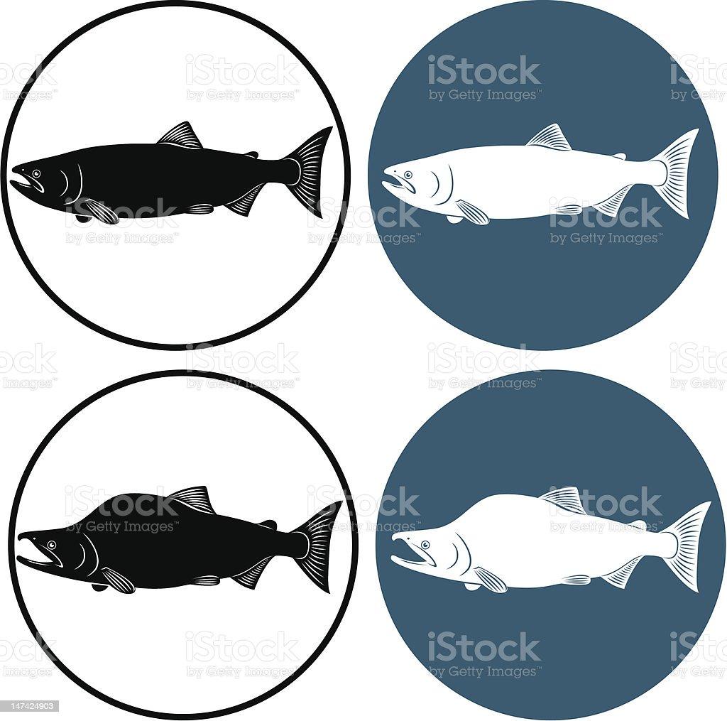 red fish vector art illustration