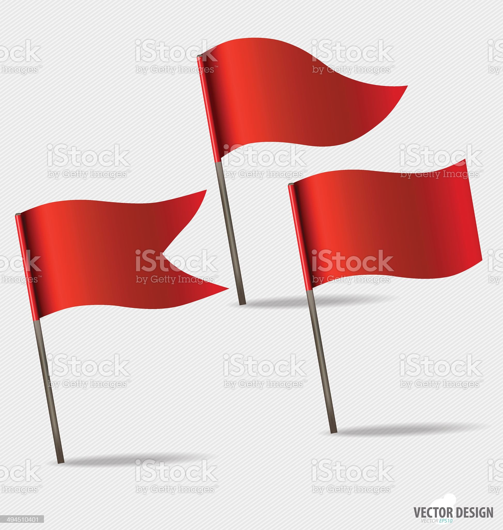 Red Flags. Vector illustration. royalty-free stock vector art