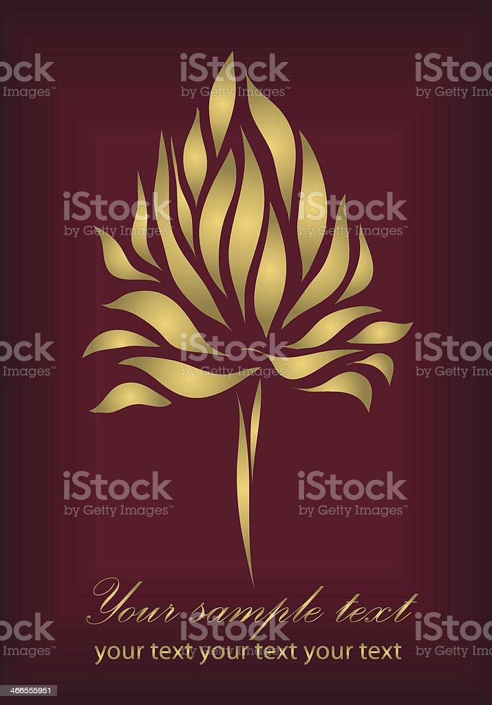 Red flower on background vector vector art illustration