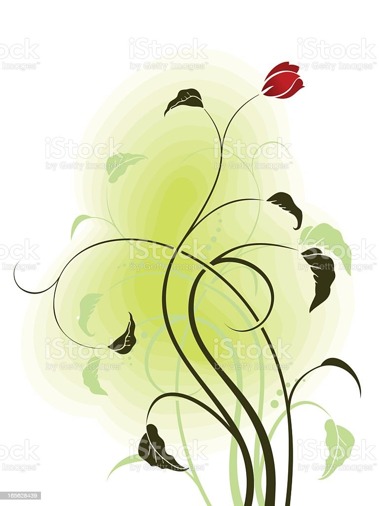 red flower royalty-free stock vector art