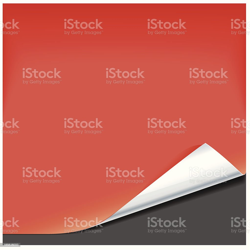Red foil backed paper vector art illustration