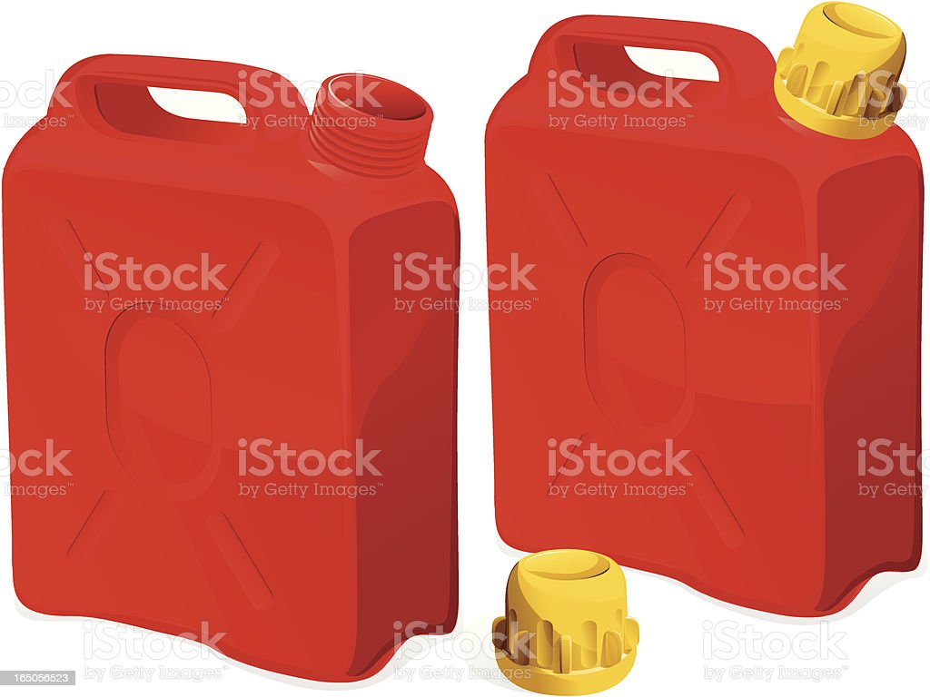 red gas cans royalty-free stock vector art