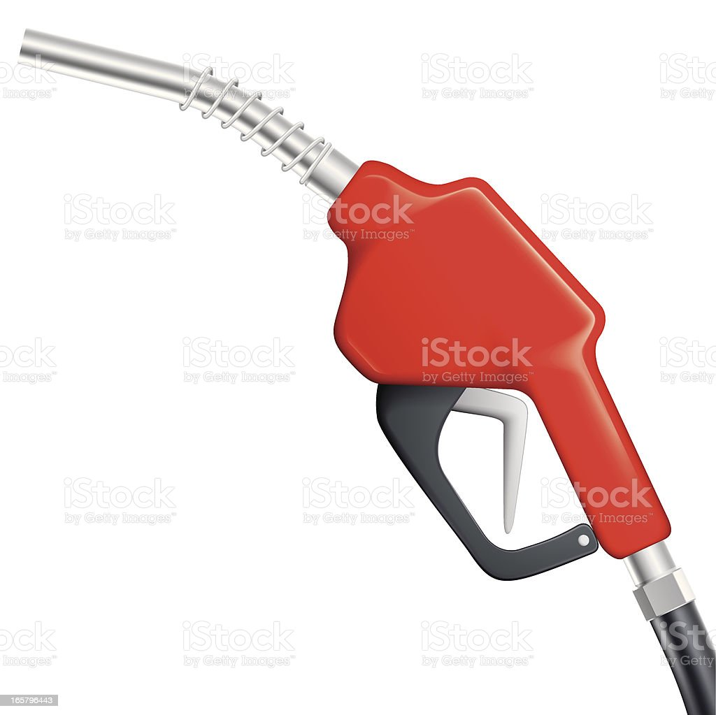 red gas nozzle vector art illustration