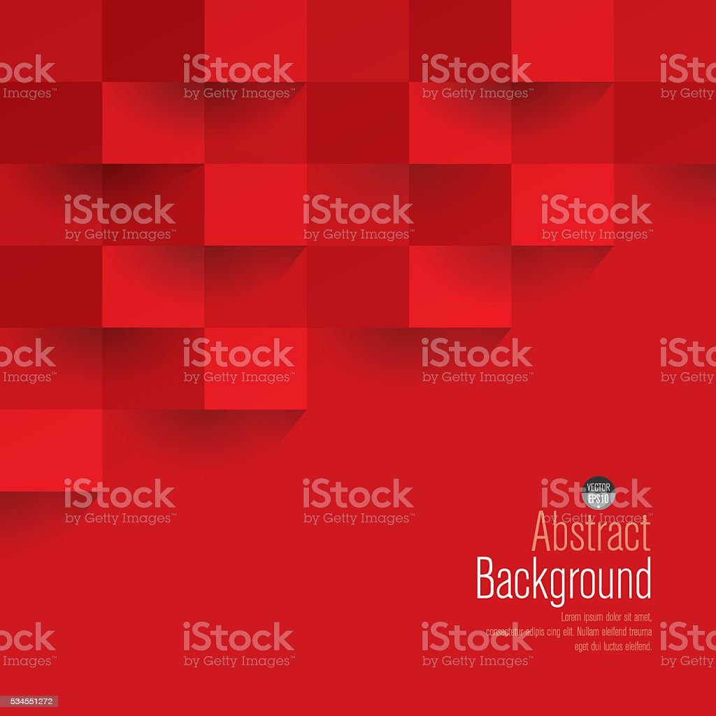 Red geometric vector background. royalty-free stock vector art