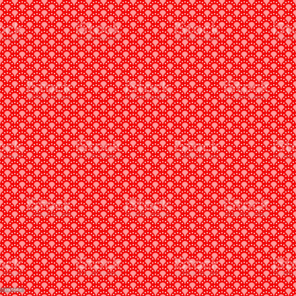 Red geometrical pattern (seamlessly tiling). royalty-free stock vector art