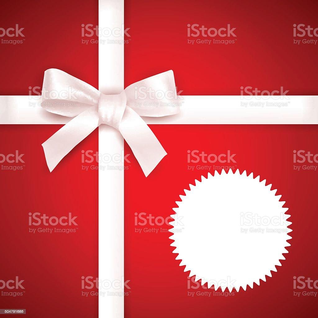 Red Gift background vector art illustration