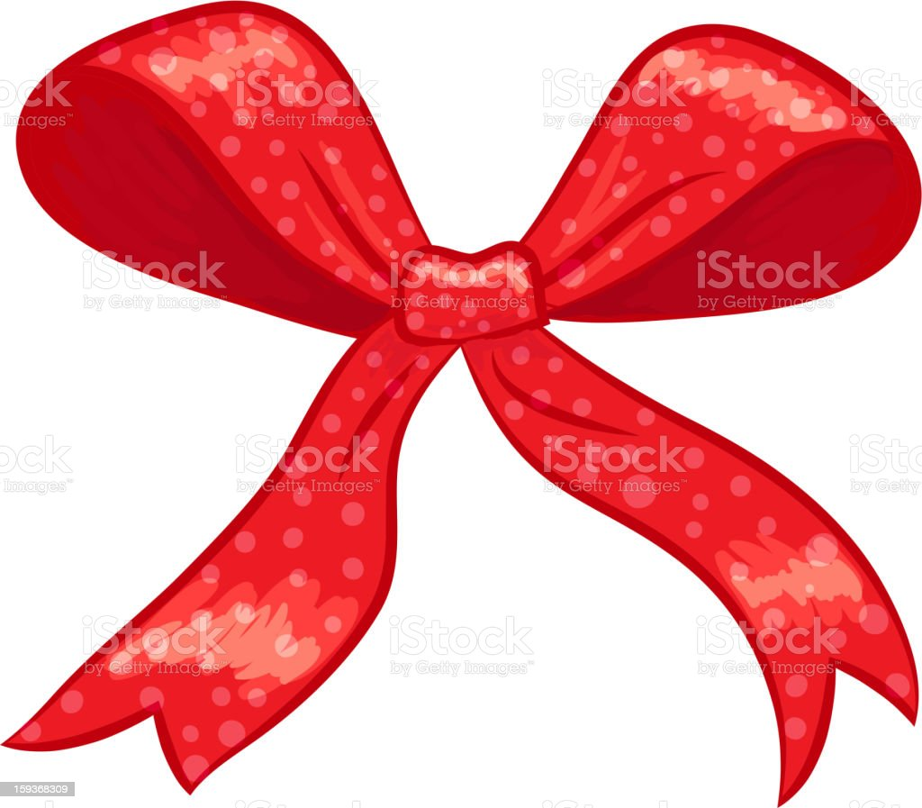 Red  gift bow royalty-free stock vector art