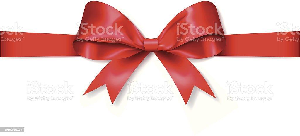 Red Gift Bow (Vector) vector art illustration