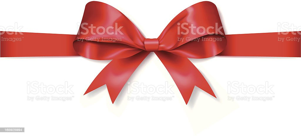Red Gift Bow (Vector) vector art illustration
