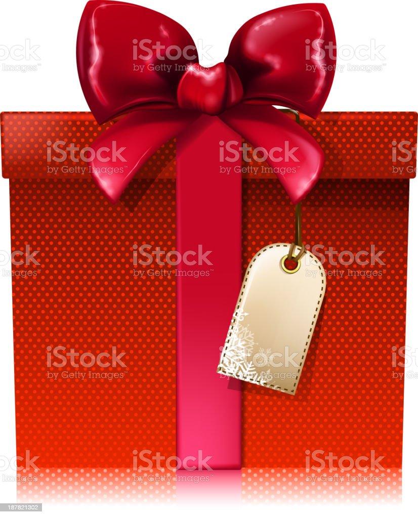 red gift box vector art illustration