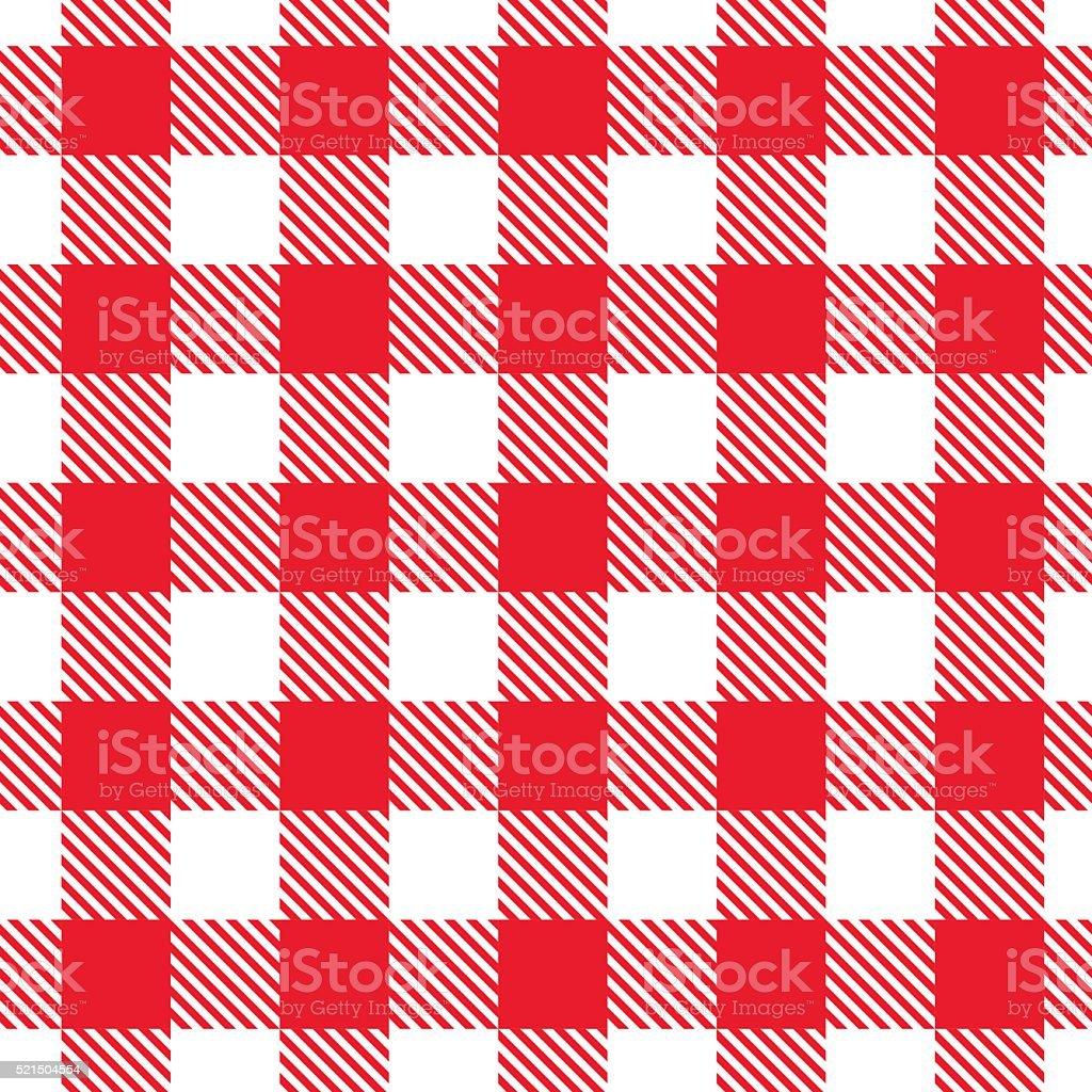 Red gingham pattern. Vector seamless texture. vector art illustration