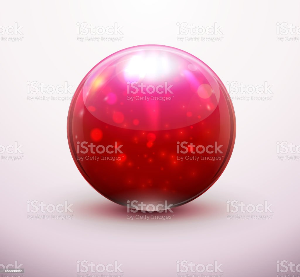 Red Glass marble royalty-free stock vector art