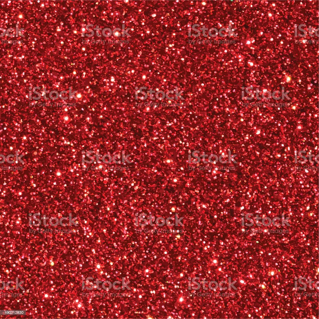 Red glitter seamless texture. vector art illustration