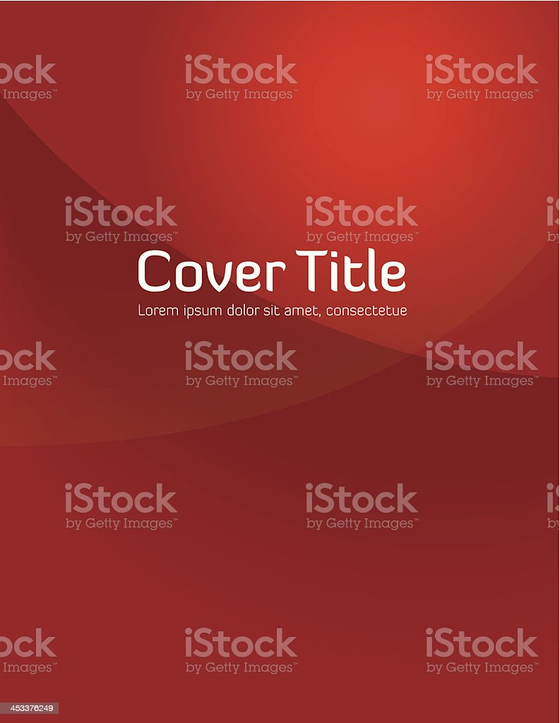 Red Gradient Cover vector art illustration