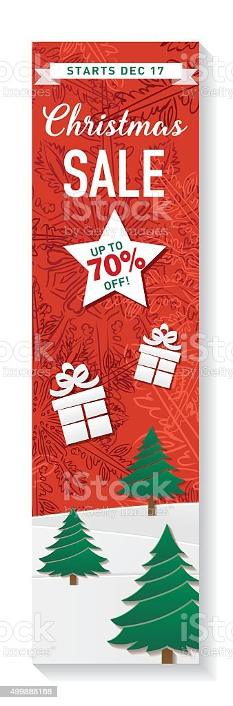 Red Green And White Christmas Sale Tag Template Stock Vector Art