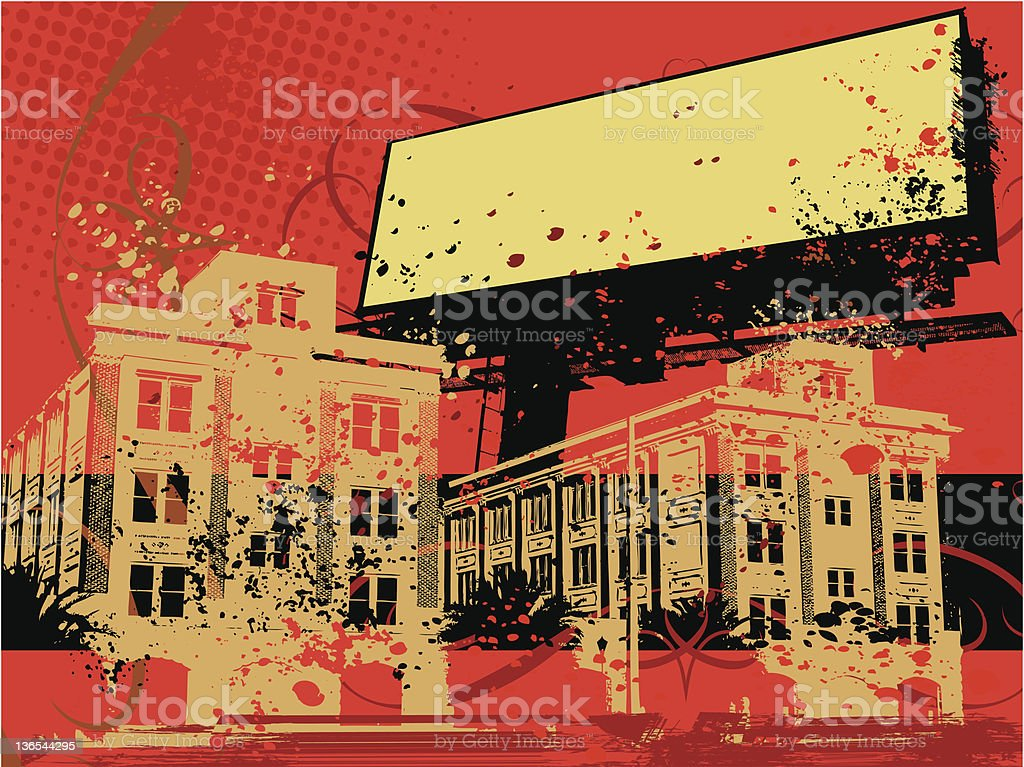 Red Grunge Billboard royalty-free stock vector art