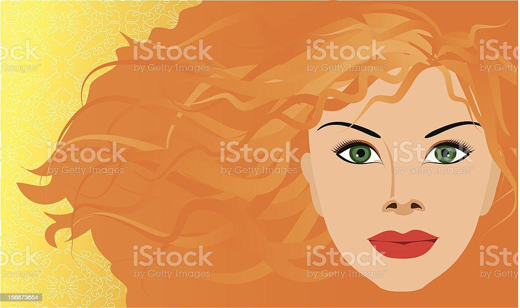 Red hair girl royalty-free stock vector art