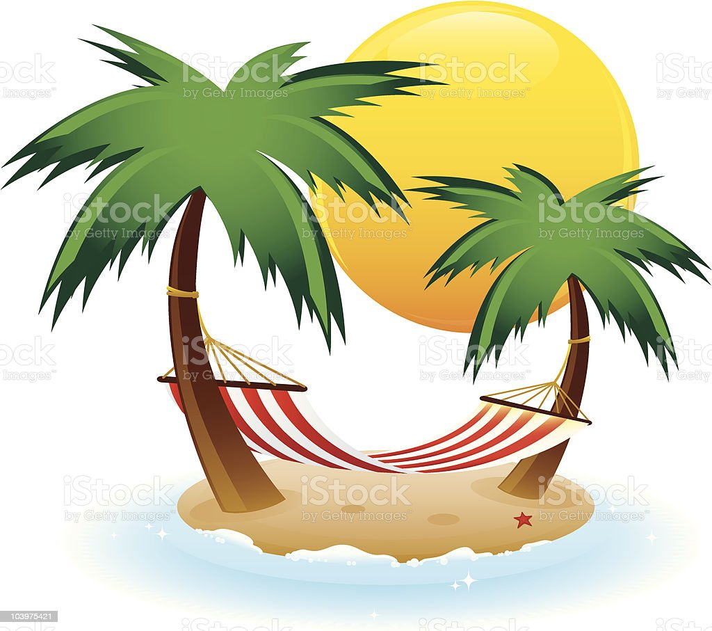 Red Hammock royalty-free stock vector art