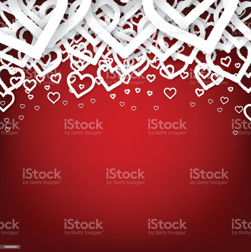 Red heart background. royalty-free stock vector art