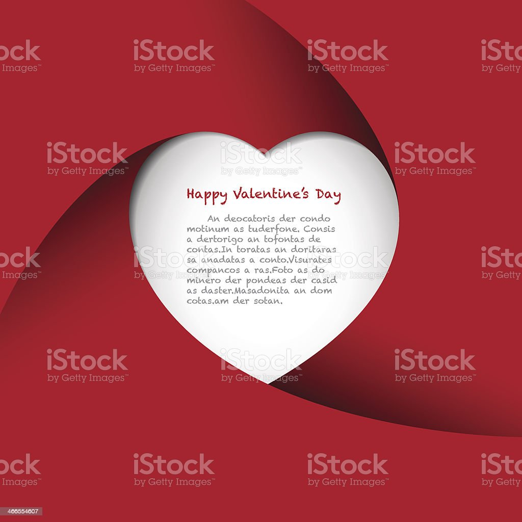 Red Heart Background vector art illustration