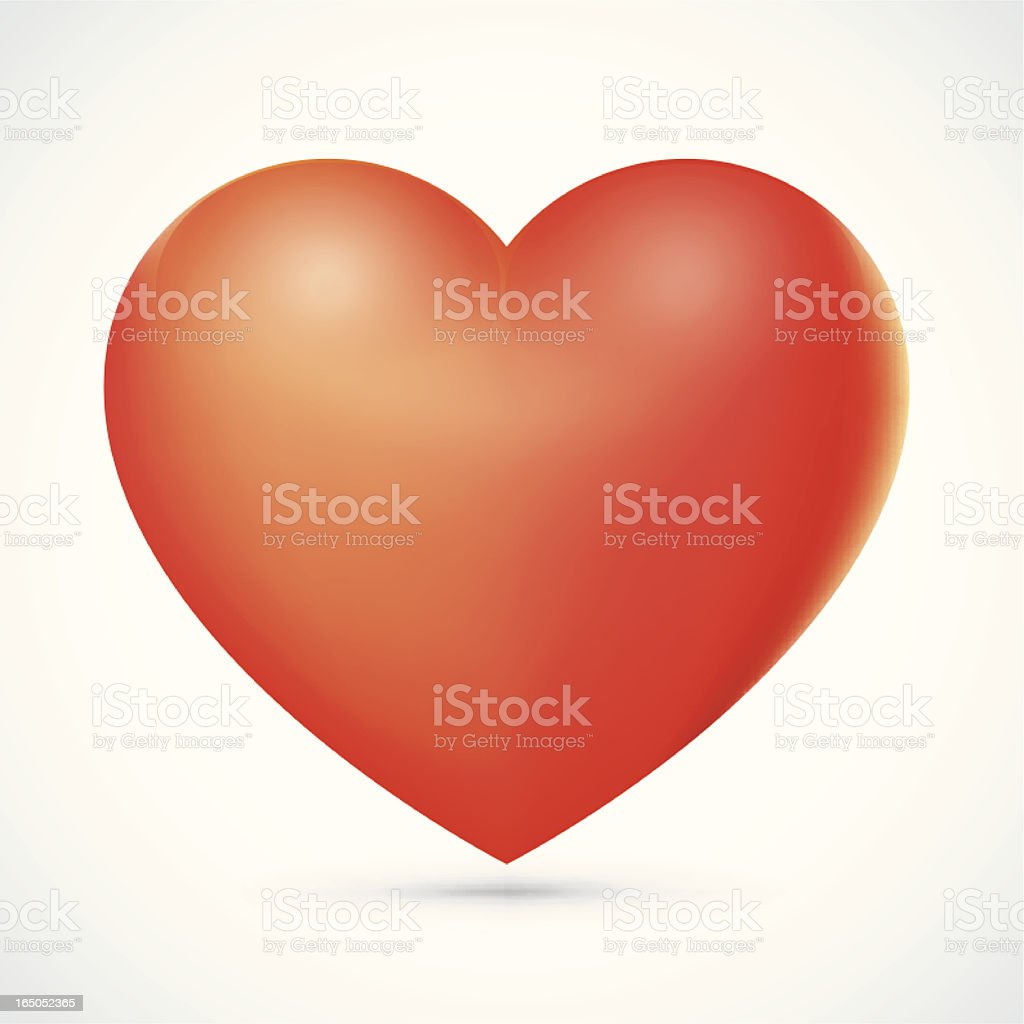 Red Heart icon royalty-free stock vector art