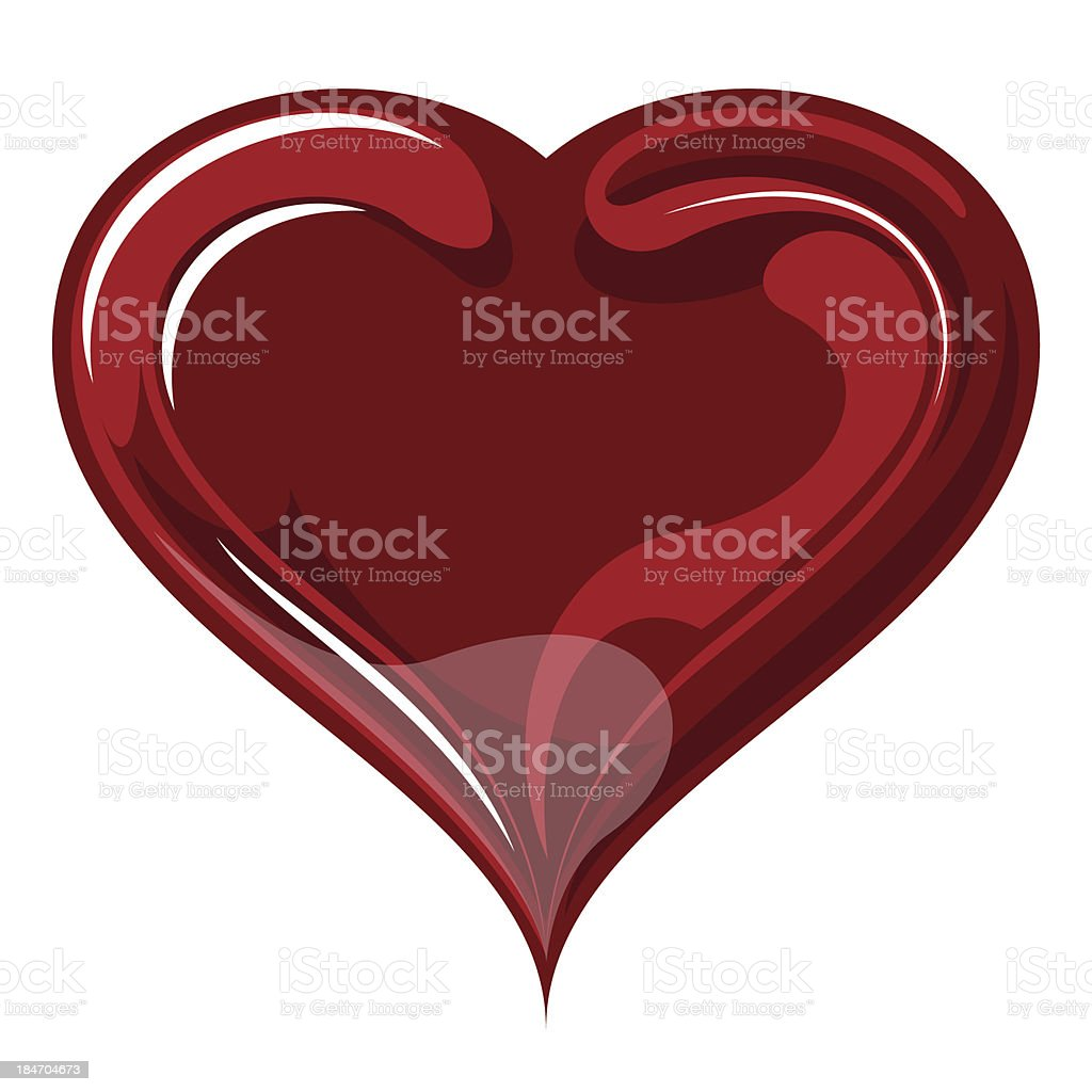 Red heart on valentine`s day. royalty-free stock vector art
