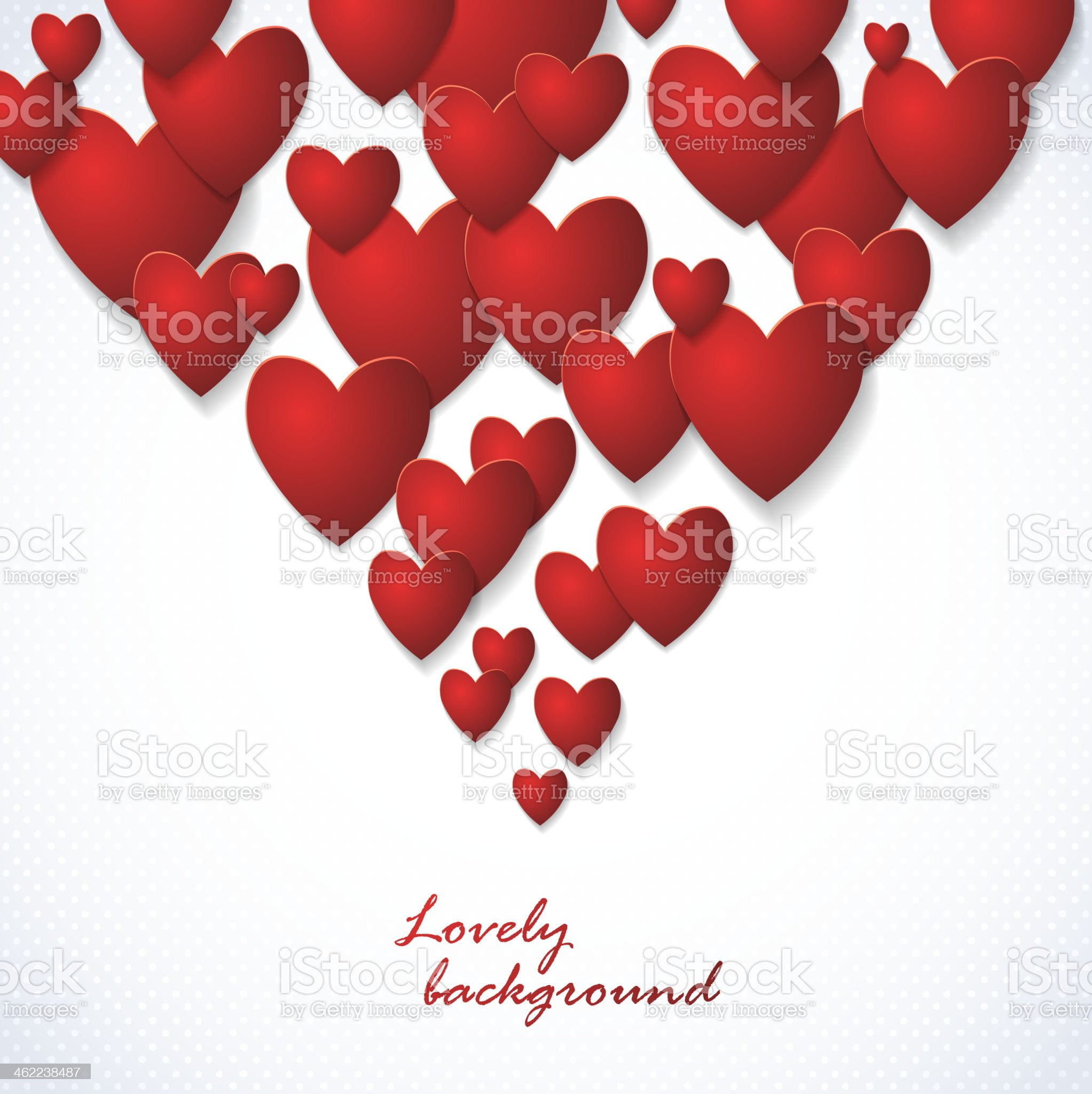 Red Heart Paper Stickers Valentine's day royalty-free stock vector art