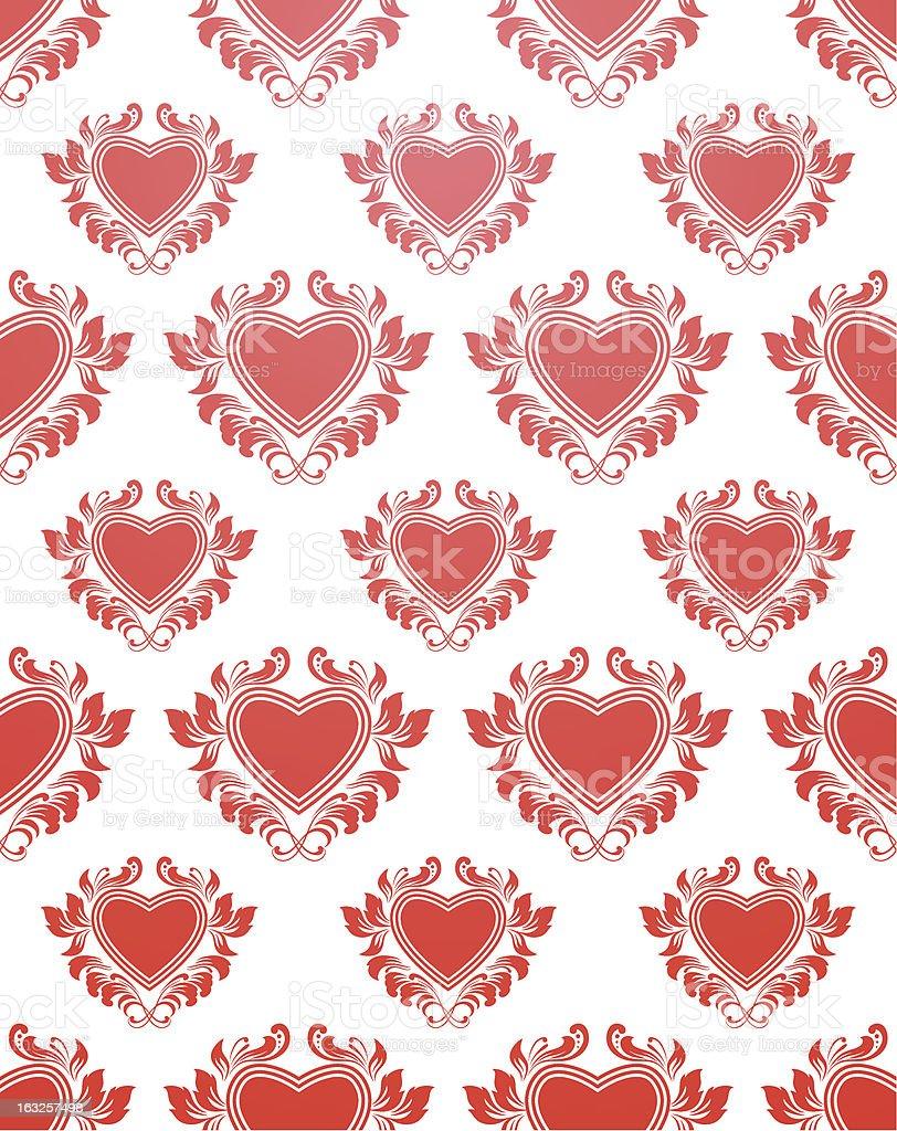 Red Heart Pattern vector art illustration