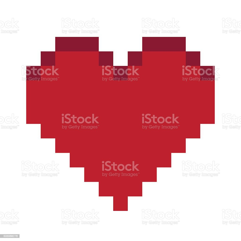 Red Heart symbol. vector art illustration