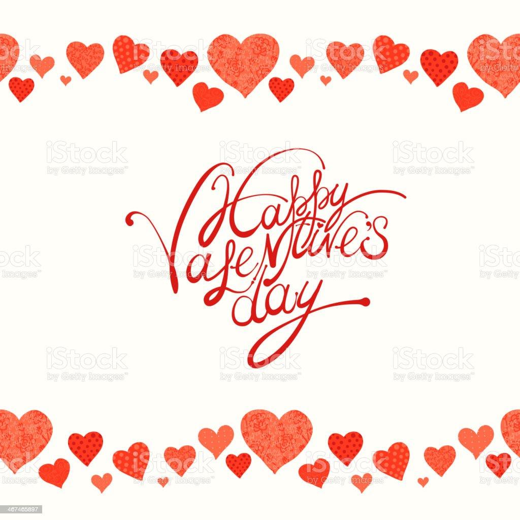 red heart, valentine's day background vector art illustration