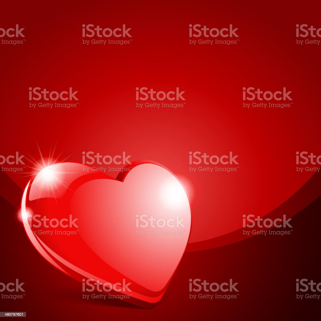 Red heart Valentine's day vector art illustration