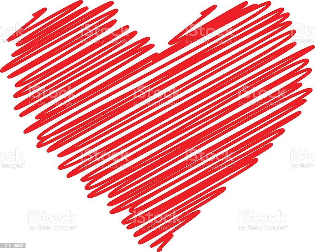 Red heart vector icon vector art illustration