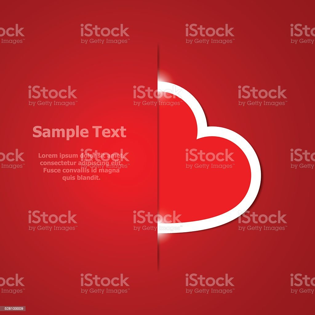 Red heart vector art illustration