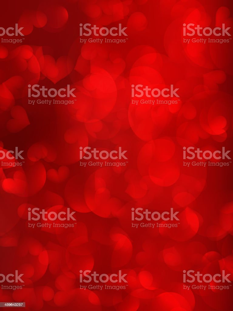 Red hearts as background. vector art illustration