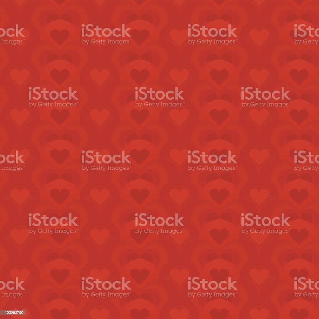 Red hearts seamless royalty-free stock vector art