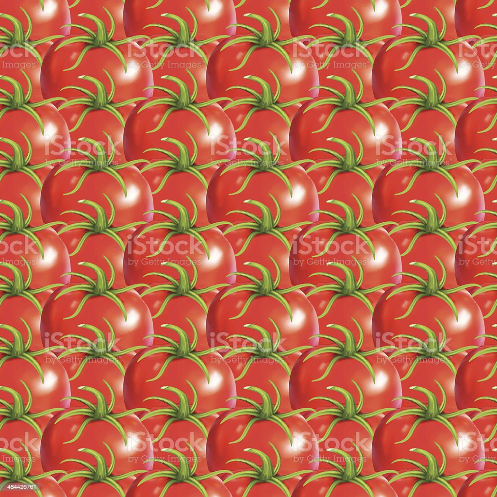 Red Heirloom Tomatoes Seamless Pattern royalty-free stock vector art